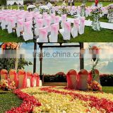 20*275cm In Stock Wedding Party Chair Organza Sach Bow Events Supplies Party Decoration Spandex Chair Cover