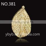 metal 3d leaf pendant Applique garment accessories in trimming -381