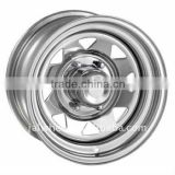 12 Inch China Production Chrome Trailer Wheel Trailer Rim