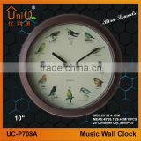Plastic birds sounds wall clock