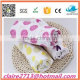 Baby Blanket Manufacturer 100% Cotton Printed Muslin Fabric Baby Swaddle Blanket Bamboo Baby Muslin Wrap Cloth