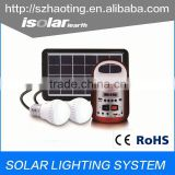 IS-1399S 3W 5W 10W 20W solar lighting system portable mini solar home lighting kit with mobile charger