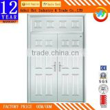 New Stainless Steel Double Leaf Door Can Customize Remote Control Opener High Quality Fireproof Door White Security Entry Door