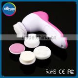 Factory Price Sale Face Facial Cleansing Brush Spa Skin Care Massage Exfoliator Deep Clean 5 in 1 Make Up set