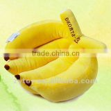 cheap custom soft yellow stuffed banana plush toy