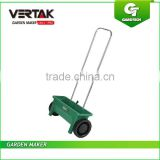 Plastic 12L Salt Drop Spreader,Walk Behind Lawn & Garden Sand Spreader,Green Push Broadcast Seed Spreader