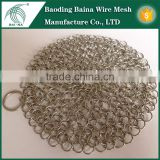 high quality 304 316 300 wire mesh AISI circular cast iron pan cleaner