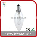 18W 28W 42W E14 Halogen Candle Bulb For Candelier, Wall Lamp, Crystal Lamps