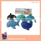 Squishy rubber toys animal,rubber whale bath toy and dolphin