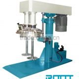 High-speed double axles disperser for paint, ink, pigment, paste industry