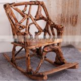 Southeast Asia Style Root Carved Rocking Chair, Environmental Protective Solid Wood Root Reclining Chair (BF01-X1172)
