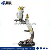 Small bronze bird sculpture statues parrot birds for sale
