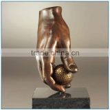 Abstract Golf Hand Metal Bronze Sculpture for Sale