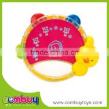 Wholesale lovely baby musical instrument plastic tambourine