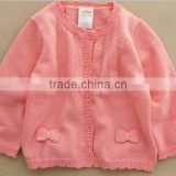 custom trendysweet cute bows infant toddler girls latest pink cardigan sweater