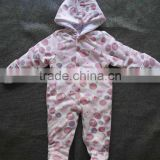 Wholesale OEM Winter Newborn Baby Clothes Clothing Colorful Baby Romper With hood
