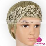 Wholesale Boutique Festival Girls Lace Floral Elastic Wedding Boho Bridal Headband Hair Accessories