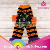 Wholesale halloween style orange with black polka stripe baby chevron leg warmer LBE4091394