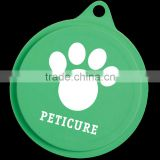 USA Made Pet Food Lid - reseals most common food and pet food cans from 3 oz to larger family size cans and comes with your logo