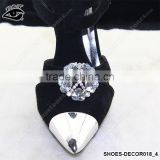 Shiny Flower Shaped Crystal Rhinestone Ornament Accessories with metal clip for high heel shoe wedding shoes