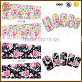 Hot Water Transfer Nail Art Sticker Flower Decals Tips Decoration