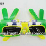 Hippie Hand Peace Sign Football Glasses