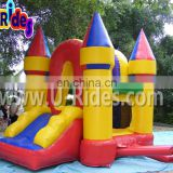 Colorful Inflatable bounce jump castle inflatable bounce castle inflatable jumper with slide for kids