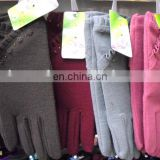 Cheapest lady cotton Cashmere gloves