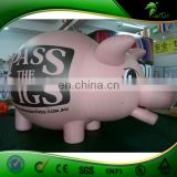 Red Inflatable Bush Hog Wild Boar Helium Balloon PVC Inflatable Sus Scrofa Animal Replica Ball Air Advertising Pig