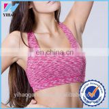 Yihao Sexy fitness bra nylon and spandex womens crop tops womens sports bra crop tops women athletic apparel manufacturers