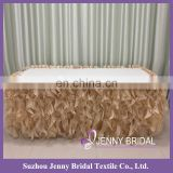 TS055H curly willow table cloth argos custom table cloth