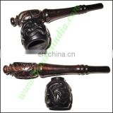 Handmade real ebony wood smoking pipe, size : 4.5 inch pipe