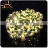2017 hot sale led light hair accessories flower garland decoration