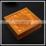 High profilr acrylic plastic custom design carve patterns or designs on woodwork furniture type box