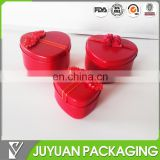 China tin box company's red colored heart shape empty metal tin candy box wholesale as wedding gift tin
