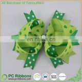 Butterfly or twist grosgrain cute hair bow with alligator clip