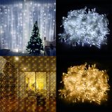 220V/110V LED Curtain String 3x3m 6x3m LED icicle String Light Holiday Wedding Party Christmas Decoration Garland Lights