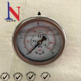 63mm 1.6Mpa Crimped Ring Back Connection Stainless Steel Pressure Gauge