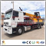 2016 China most popular Truck mounted hydraulic rotation borehole drilling rig equipment