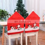 Christmas New Table Decoration Non-Woven Chair Cover Cartoon Old Man Snowman Stool Set