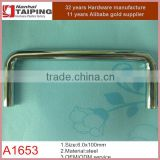 100mm CC polished chrome solid steel cabinet handles and knobs decorative cabinet wire pull