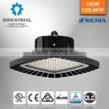warehouse ip65 Nichia chip 150lm/w round 150 watt led ufo high bay light fixture dlc listed explosion proof light