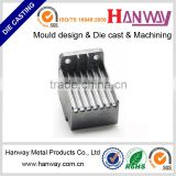 China die casting factory custom made sand blasting Motorcycle radiator heat sink die casting aluminum