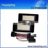 Emarked led car door logo laser projector light for Q5 for A4 4D/5D(B8) For A5/S5 car number plate lamp canbus no error code