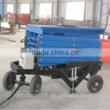 Hydraulic Mobile Scissor Lift Platform,Capacity 1000kg,Lifting 10m,Ac 380V 3.0kw 3phase power supply.