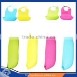 Wholesale Good Price FDA Approval Washable Silicone Best Baby Bib with Cloth Food Catcher for Infant Baby