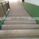 Rubber pvc cover anti-slip stairs nosing with aluminium bracket