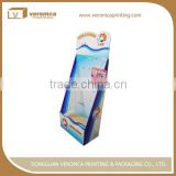 OEM manufacture cardboard display with peg hooks