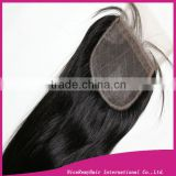 100% virgin brazilian silk base lace closure /silk lace frontal closure 4*4