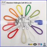 hot selling braided keyring pu leather cheap keychains in bulk custom design